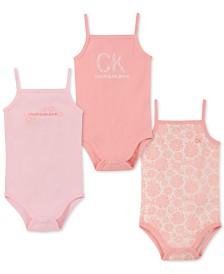Calvin Klein Baby Girls 3-Pk. Floral Tank Bodysuits
