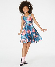 Big Girls Floral-Print Tiered Dress