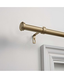 """Exclusive Home Topper 1"""" Curtain Rod and Coordinating Finial Set, Adjustable 36""""-72"""""""