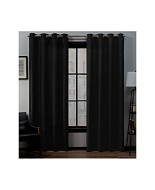 "Exclusive Home Loha Linen Grommet Top Window 54"" X 108"" Curtain Panel Pair"