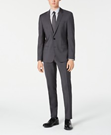 HUGO By Hugo Boss Men's Slim-Fit Gray Sharkskin Suit Separates