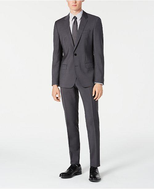 Hugo Boss Men's Slim-Fit Gray Sharkskin Suit Separates