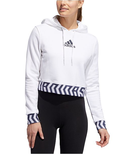 adidas Women's Global Citizens Cropped Hoodie