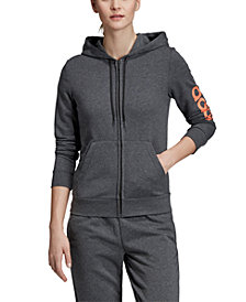 adidas Women's Linear-Logo Zip Hoodie