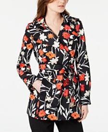 Calvin Klein Printed Belted Jacket