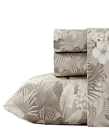 Tommy Bahama Hibiscus Haven Neutral Sheet Set, Queen