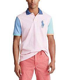 Polo Ralph Lauren Men's Multi-Color Big Pony Mesh Polo Shirt