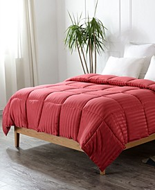 Down Alternative Striped Queen Comforter