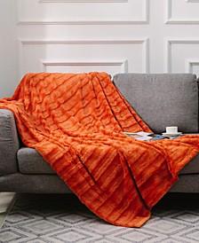 "Ultra Soft Faux Fur to Microplush 60"" x 70"" Reversible Cozy Warm Throw Blanket"