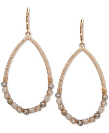 lonna & lilly Gold-Tone Beaded Open Drop Earrings