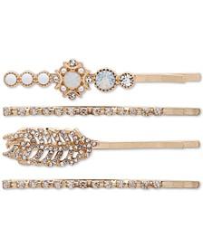 4-Pc. Crystal & Imitation Pearl Bobby Pin Set