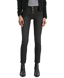 Women's Classic Button-Front Straight Jeans