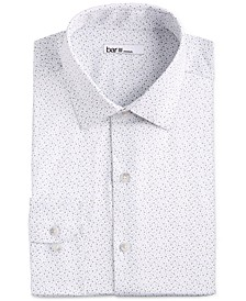 Men's Slim-Fit Stretch Scattered Dot-Print Dress Shirt, Created for Macy's
