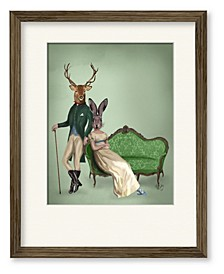 Mr. Deer and Mrs. Rabbit Framed and Matted Art Collection