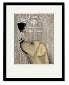 Labrador Au Vin Framed and Matted Art Collection