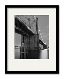 Brooklyn Bridge Shadow Framed and Matted Art Collection