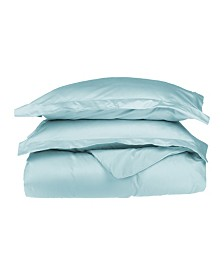 Superior 530 Thread Count Premium Combed Cotton Solid Duvet Set - Full/Queen