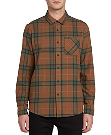 Men's Caden Herringbone Plaid Shirt