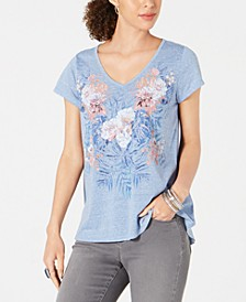 Petite Graphic-Print Top, Created for Macy's