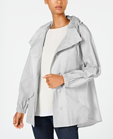 Eileen Fisher Hooded Shirttail Coat, Regular & Petite