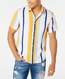 GUESS Men's Vertical Stripe Shirt