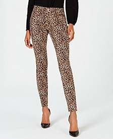 INC Leopard-Print Skinny Jeans, Created for Macy's