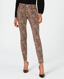 I.N.C. Leopard-Print Skinny Jeans, Created for Macy's