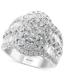 EFFY® Diamond Cluster Statement Ring (2-1/6 ct. t.w.) in 14k White Gold
