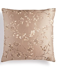 "Small World Home Annabel Woven Floral Jacquard Reversible 20"" x 20"" Throw Pillow"