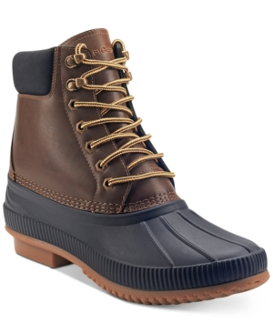 Tommy Hilfiger Colins Water Resistant Duck Boot In Brown