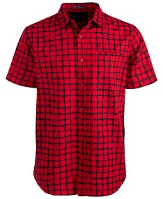 6ead25ef7 Red Mens Casual Button Down Shirts & Sports Shirts - Macy's