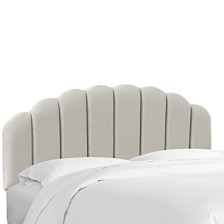 Vegas Rosemont King Shell Headboard, Quick Ship