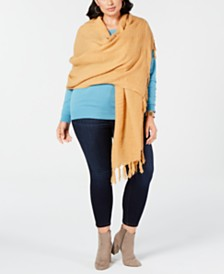 Cejon Solid Travel Fringed Scarf