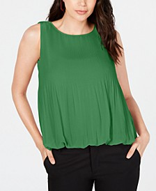 Pleated Bubble Top, Created for Macy's