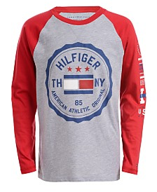 Tommy Hilfiger Little Boys Raglan-Sleeve Logo T-Shirt
