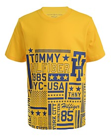 Tommy Hilfiger Little Boys Tiled Logo T-Shirt