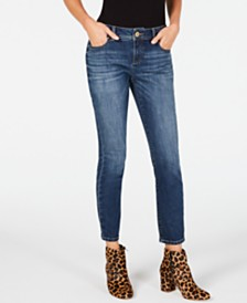 I.N.C. Petite Tummy-Control Skinny Jeans, Created for Macy's