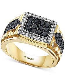 EFFY® Men's Diamond Cluster Ring (1 ct. t.w.) in 14k Gold & White Gold