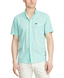 Men's Classic-Fit Cotton Gingham Shirt