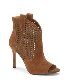 Jessica Simpson Jexell Peep Toe Western Booties