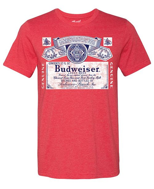 BREW CITY Budweiser Men's Graphic T-Shirt