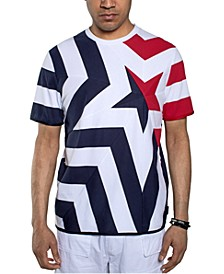 Men's Stars & Stripes Pieced T-Shirt