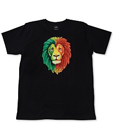 LRG Men's Rasta Lion Graphic T-Shirt