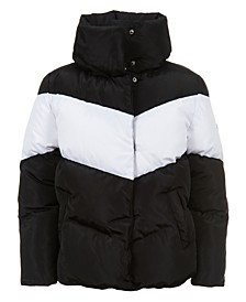 Big Girls Colorblock Puffer Jacket