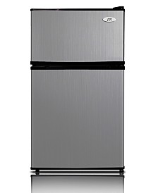 SPT 3.1 Cubic feet Double Door Refrigerator with Energy Star - Stainless Steel