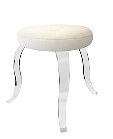 Urban Modern Round Acrylic Stool with 3 Curved Legs