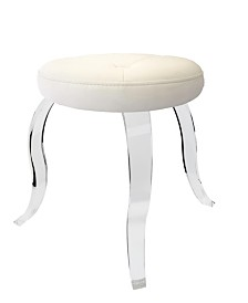 Taymor Urban Modern Round Acrylic Stool with 3 Curved Legs