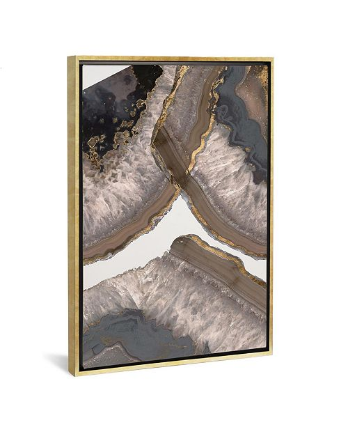 "iCanvas Neutral Agates Ii by Jennifer Goldberger Gallery-Wrapped Canvas Print - 26"" x 18"" x 0.75"""