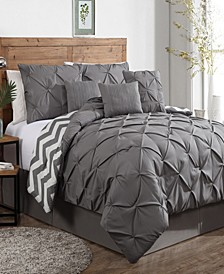 Ella 7 Pc Queen Comforter Set