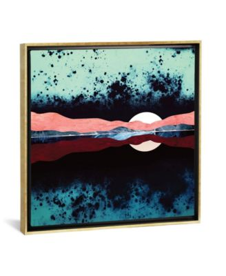 """Night Sky Reflection by Spacefrog Designs Gallery-Wrapped Canvas Print - 37"""" x 37"""" x 0.75"""""""